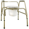 McKesson Commode Chair SunMark Fixed Arms Steel Seat Lid Back 25 1/2 to 32 1/2 MON 13173300