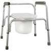 McKesson Commode Chair SunMark® Fixed Arms Anodized Aluminum Seat Lid Back 16 to 22 Inch, 1EA/CS MON 13293300