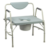 bathroom aids: McKesson - Heavy Duty Non-Folding Commode Chair (146-11135-1)
