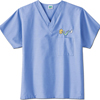 White Swan Fundamentals One Pocket V-Neck Scrubs Top, Ceil Blue, Small MON 14068503