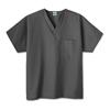 scrub tops: White Swan - Fundamentals One Pocket V-Neck Scrubs Top, Granite, 3XL