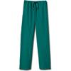 White Swan Fundamentals Unisex Drawstring Scrub Pants, Hunter Green, 2XL MON 20038500