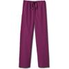 White Swan Fundamentals Unisex Drawstring Scrub Pants, Wine, 2XL MON 20018500