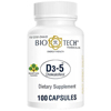 Vitamins OTC Meds Vitamin D: Bio Tech Pharmacal - Vitamin D-3 Supplement 5000 IU Capsules