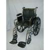 McKesson Wheelchair SunMark® Full Arm Mag Black 20 Inch 350 lbs. MON 15374200