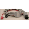Welch-Allyn Patient Cable 10 Foot, One Piece Shielded, 3 Lead, With Snap Connector Lead Wire MON 15832500