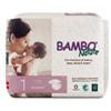 Abena Baby Diaper Bambo Nature Tab Closure Size 1 Disposable, 28/PK, 6PK/CS MON 1107621CS