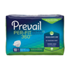 First Quality Prevail® Per-Fit 360 Max, Plus Absorbency Winged Brief, Large, (45 to 62), 18/BG MON 18043101