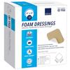 Abena Foam Dressing 4 X 4 Square Without Border, Sterile MON 19602110