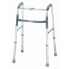 Samsonite-crutches-walkers: McKesson - Folding Walker Adjustable Height SunMark® Anodized Aluminum, Steel