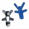 DJO Finger Splint PROCARE Frog Style Aluminum / Foam Left or Right Hand Silver / Blue Large MON 19673012