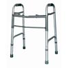 Walkers: McKesson - Folding Walker Adjustable Height SunMark® Anodized Aluminum Tubing Frame, Steel Cross Brace