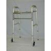 McKesson Folding Walker Adjustable Height SunMark® Anodized Aluminum Tubing Frame, Steel Cross Brace 300 lbs., 1EA/CS MON 19683800
