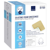 Abena Silicone Foam Dressing 4 X 4 Square Without Border, Sterile MON 19692110
