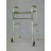 McKesson Folding Walker Adjustable Height SunMark® Anodized Aluminum Tubing Frame, Steel Cross Brace 300 lbs., 1EA/CS MON 19693800