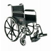 Merits Health Dual Axle Wheelchair w/Padded Fixed Height Full Arm Mag Black 18 MON 21104200