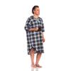 Salk Patient Exam Gown X-Large Male Blue Plaid Print, 1/ EA MON 21481100