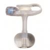 Applied Medical Technologies Balloon Button Gastrostomy Feeding Device AMT Mini Classic 20 Fr. 1.0 cm Silicone Sterile MON 21504600