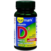 Vitamins OTC Meds Vitamin D: McKesson - sunmark® Vitamin D3 Dietary Supplement 2000 IU Softgels, 100 per Bottle