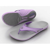Hospital Apparel Sandals: Spenco - Sandals Spenco Polysorb Yumi Dove Gray / Purple Female