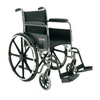 Merits Health Wheelchair Dual Axle Padded Fixed Height Full Arm Mag Black 18 250 lbs. MON 22104200