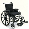 Merits Health Lightweight Wheelchair High Strength Padded Flip Back Desk Arm Mag Black 16 250 lbs. (L220NMDFMU0) MON 783964EA