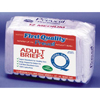First Quality Brief Full Mat Body Shaped First Quality® 32-44 Medium White Moderate-Heavy Absorbency, 16EA/PK MON 22223101