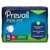 "prevail: First Quality - Prevail® Per-Fit® Maximum Plus Absorbency Brief, Medium, (32 to 44""), 16EA/PK"
