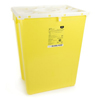McKesson Sharps Container Prevent® 20.8H X 17.3W X 13L Inch 12 Gallon Yellow - Chemo MON 22592800