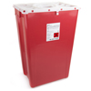 Exam & Diagnostic: McKesson - Sharps Container Prevent® 24.68H X 17.3W X 13L Inch 18 Gallon Red
