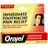 Vitamins OTC Meds Pain Relieving Rub: Dennison Pharmaceuticals - Oral Pain Reliever Orajel® 0.42 oz. Gel Tube