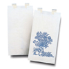 McKesson Bedside Bag 3-1/8 X 6-1/2 X 11-3/8 Inch White with Blue Floral Print Paper, 2000EA/CS MON 23101200