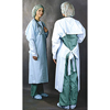 workwear: Busse Hospital Disposables - Impervious Gown One Size Fits Most Polyethylene Blue Adult, 15EA/BX 5BX/CT