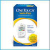 Glucose: LifeScan - Blood Glucose Meter OneTouch Verio Flex® 5 Seconds Stores Up To 500 Results No Coding