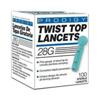 Lancets: Prodigy Diabetes Care - Safety Lancet Prodigy Needle 28 Gauge Twist Top, 100/BX50BX/CS