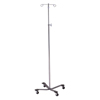 McKesson IV Pole Floor Stand entrust® Performance 2-Hook 4-Leg, Rubber Wheel, Ball-Bearing Casters, 22 Inch Epoxy-Coated Steel Base MON 25203200