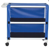 MJM International 2 Shelf Linen Cart with Cover 300 Series 3TW Caster 100 lbs., 1/ EA MON 25303400