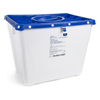 McKesson Sharps Container Prevent® 13.5H X 17.3W X 13L Inch 8 Gallon White Base, Blue Lid MON 25622800