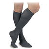 BSN Medical Mens Activa Knee-High Dress Compression Socks, Large, 15-20 mmHg, Closed Toe, Ribbed, Black MON 25630300
