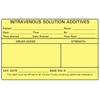 Precision Dynamic Nursing Label Barkley Intravenous Solution Additives Yellow 2-1/2 x 4 MON 26004700