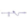 Baxter Extension Set Clearlink™ 14 Inch Tubing 1 Port 2.2 mL Priming Volume MON 26322810