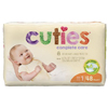First Quality Cuties Complete Care Diapers (CCC01), 48/BG MON 1102728BG