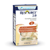 Nestle Healthcare Nutrition Resource 2.0 Vanilla Creme 32 Oz Brik Pak MON 27602600