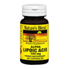 National Vitamin Company Natures Blend Alpha Lipoic Acid Supplement ,100 mg Strength Capsules, 60 per Bottle MON 28142700