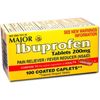 Major Pharmaceuticals Pain Reliever Caplets 200 mg MON 30712700