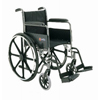 Merits Health Wheelchair Dual Axle Padded Fixed Height Full Arm Mag Black 18 250 lbs. MON 31104200