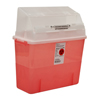 Medtronic Sharps-A-Gator™ Safety In Room Sharps Container Counterbalance Lid, Transparent Red 2 Gallon MON 31322800