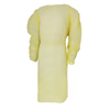work wear: McKesson - Fluid-Resistant Isolation Gown Yellow One Size Fits Most Adult Elastic Cuff Disposable
