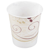 Solo Drinking Cup Symphony® 5 oz. Cold Beige, Burgundy Wax Coated Paper, 100EA/PK 30PK/CS MON 972514CS