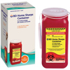 BD Diabetic Supplies Sharp Collector 2-Piece Red Base Vertical Entry Lid MON 34262800